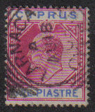 Cyprus Stamps SG 052 1903 One Piastre - USED (e429)