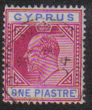 Cyprus Stamps SG 052 1903 One Piastre - USED (e428)