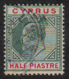 Cyprus Stamps SG 050 1902 Half Piastre - USED (e423)