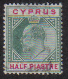 Cyprus Stamps SG 050 1902 Half Piastre - USED (e422)
