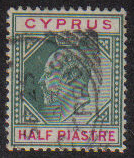 Cyprus Stamps SG 050 1902 Half Piastre - USED (e421)