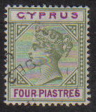 Cyprus Stamps SG 044 1896 Four 4 Piastres - USED (e420)