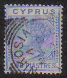 Cyprus Stamps SG 034 1892 Two 2 Piastres - USED (e417)