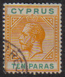 Cyprus Stamps SG 074 1912 Ten Paras - USED (e440)