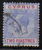Cyprus Stamps SG 078 1913 Two Piastres - USED (d060)