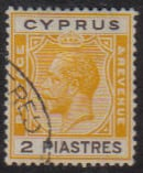 Cyprus Stamps SG 121 1925 2 Piastres - USED (e531)