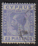 Cyprus Stamps SG 122 1925 2 1/2 Piastres - USED (e535)