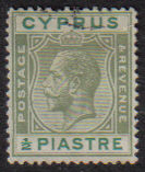 Cyprus Stamps SG 118 1925 Half Piastre - USED (e515)