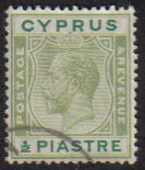 Cyprus Stamps SG 118 1925 Half Piastre - USED (e516)