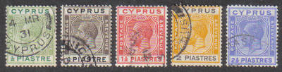 Cyprus Stamps SG 118-22 1925 Crown Colony Full set  - USED (e537)