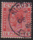 Cyprus Stamps SG 120 1925 One and a Half Piastres - USED (e524)
