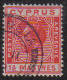 Cyprus Stamps SG 120 1925 One and a Half Piastres - USED (e526)