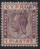 Cyprus Stamps SG 106 1924 One Piastre - USED (e503)