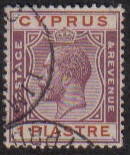 Cyprus Stamps SG 106 1924 One Piastre - USED (e504)