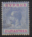 Cyprus Stamps SG 094 1922 Two 3/4 Piastres - USED (e483)