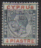 Cyprus Stamps SG 103 1924 1/4 Piastre - USED (e486)
