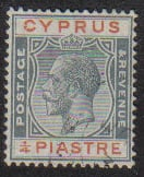 Cyprus Stamps SG 103 1924 1/4 Piastre - USED (e488)