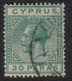 Cyprus Stamps SG 088 1923 30 Paras - USED (e476)