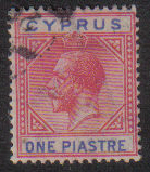 Cyprus Stamps SG 089 1921 One piastre - USED (e538)