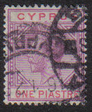Cyprus Stamps SG 090 1922 One Piastre - USED (e480)