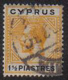 Cyprus Stamps SG 091 1922 One and Half Piastres - USED (e481)