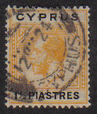 Cyprus Stamps SG 091 1922 One and Half Piastres - USED (e482)