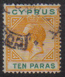Cyprus Stamps SG 085 1921 10 Paras - USED (e468)