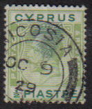 Cyprus Stamps SG 118 1925 Half Piastre - USED (e517)
