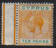 Cyprus Stamps SG 074b 1912 10 Paras King George V - MLH (e442)