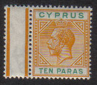Cyprus Stamps SG 074b 1912 10 Paras King George V - MLH (e443)