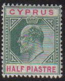Cyprus Stamps SG 062 1904 Half Piastre - MH (e572)