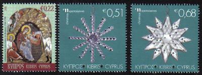 Cyprus Stamps SG 1260-62 2011 Christmas - MINT