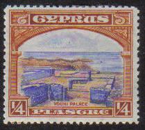 Cyprus Stamps SG 133 1934 KGV  1/4 Piastre - MH (e619)
