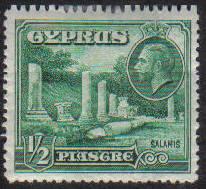 Cyprus Stamps SG 134 1934 KGV 1/2 Piastre - MH (e620)
