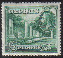 Cyprus Stamps SG 134 1934 KGV 1/2 Piastre - MH (e621)