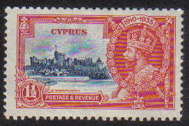 Cyprus Stamps SG 145 1935 One 1/2 Piastre Silver Jubilee KGV - MH (e628)