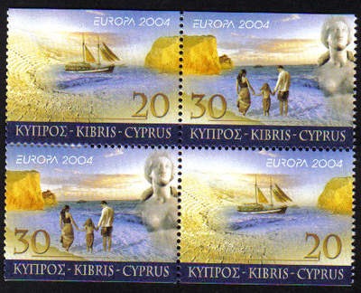 Cyprus Stamps SG 1073-74 2004 Europa Holidays Booklet pane - MINT