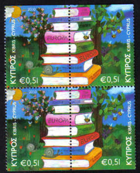 Cyprus Stamps SG 1219-20 2010 Europa Childrens books - Booklet pane MINT