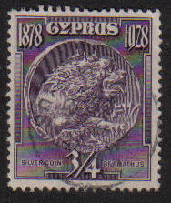 Cyprus Stamps SG 123 1928 3/4 Piastre - USED (e612)