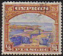 Cyprus Stamps SG 133 1934 1/4 Piastre - USED (e649)