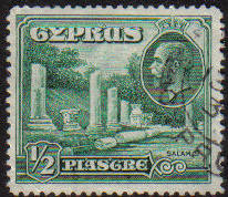 Cyprus Stamps SG 134 1934 1/2 Piastre - USED (e645)