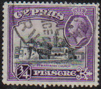 Cyprus Stamps SG 135 1934 3/4 Piastre - USED (e641)