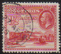 Cyprus Stamps SG 137 1934 1 1/2 Piastres - USED (e632)