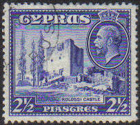 Cyprus Stamps SG 138 1934 2 1/2 Piastres - USED (e605)