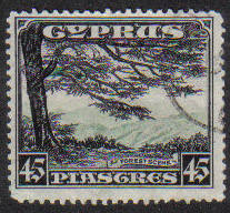 Cyprus Stamps SG 143 1934 KGV Definitives 45 Piastres - USED (e600)