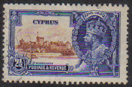 Cyprus Stamps SG 146 1935 2 1/2 Piastres - USED (e593)