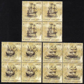 Cyprus Stamps SG 1251-53 2011 Tall Ships - Block of 4 MINT