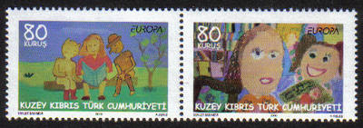 North Cyprus Stamps SG 0702-03 2010 Europa childrens books - (b) MINT