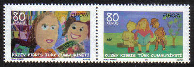 North Cyprus Stamps SG 0702-03 2010 Europa childrens books - (a) MINT