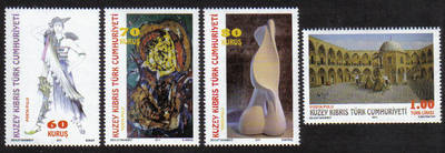 North Cyprus Stamps SG 2011 (f) Works of Artists - MINT